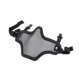 Phantom Steel mesh half face mask black for fast helmet