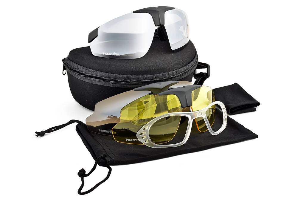 Phantom Tactical Glasses - with 3 lenses