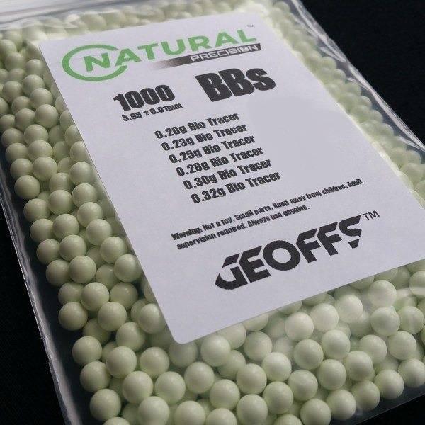Geoffs Geoffs Natural Precision 0.25g - 1000 bio tracer bb's