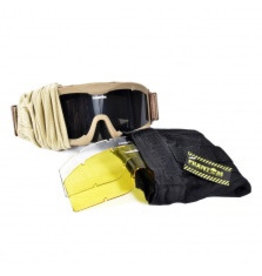 Phantom Tactical Goggle tan - met 3 lenzen