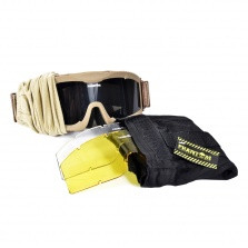 Phantom Tactical Goggle tan- with 3 lenses