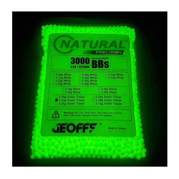 Geoffs Geoffs Natural Precision 0.23 BIO 3000 Tracer BB's