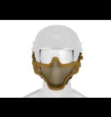 Invader Gear Invader Gear - Steel Half Face Mask FAST Version Tan