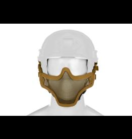 Invader Gear Steel Half Face Mask FAST Version Tan