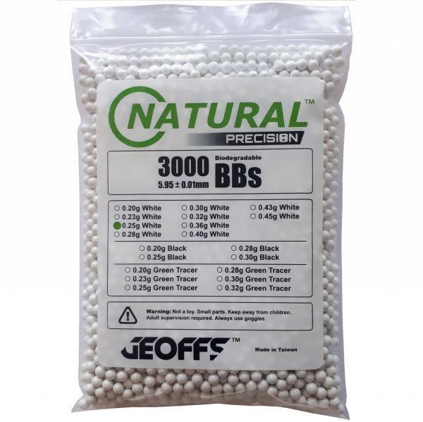 Geoffs Geoffs Natural Precision 0.25g - 3000 bio bb's
