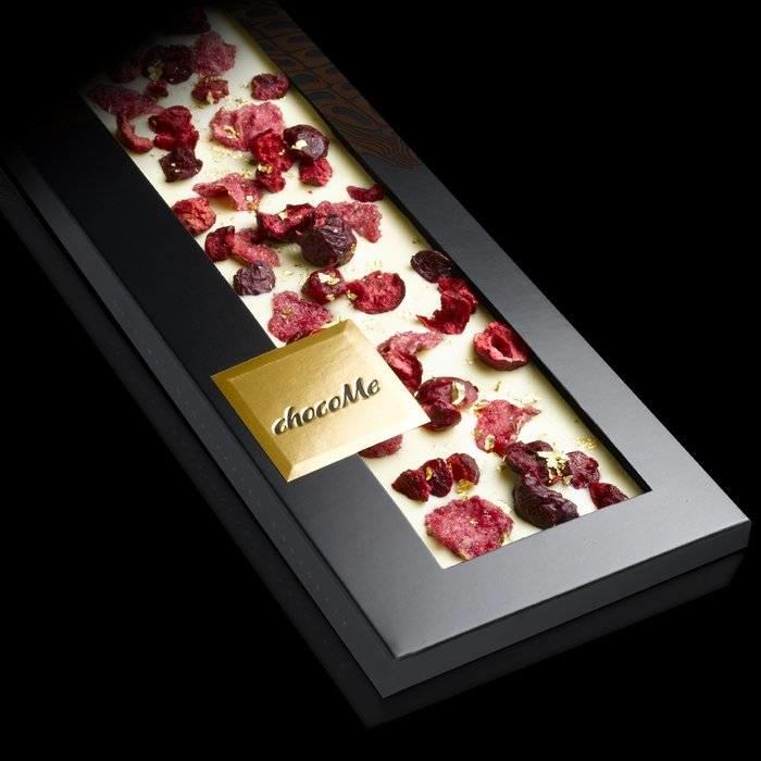 - ENTRÉE | Weiße Schokolade mit 23 Karat Goldflocken