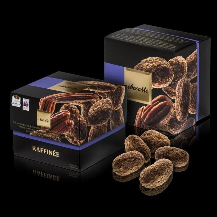 - RAFFINÉE | Pecannüsse mit gesalzener Tahiti Vanille gewürzte Karamell -Milchschokolade, 120g