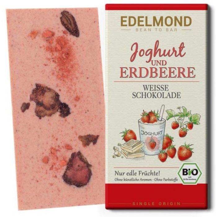 -  Joghurt & Erdbeere, Weiße Schokolade, Bio, 80g