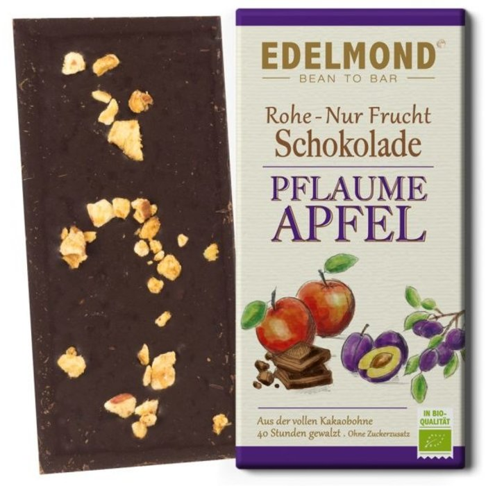 """-""""Nur Frucht"""" Pflaume-Apfel-Schokolade, Bio, 80g"""