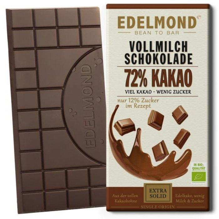 - 72% Milchschokolade, Bio, 75g