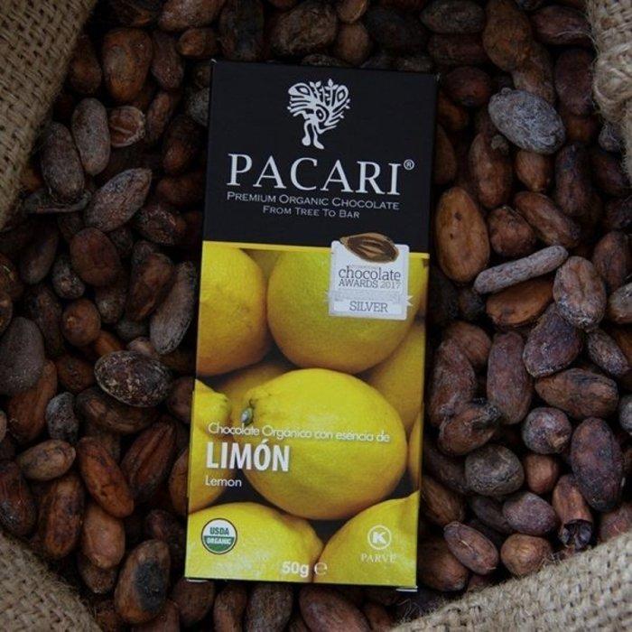 - Bio Schokolade PACARI Zitrone, 60% Kakao