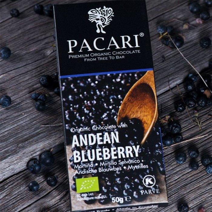 - Bio Schokolade PACARI Anden Blaubeere, 60% Kakao