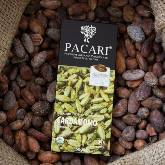 - Bio Schokolade PACARI Kardamom, 60% Kakao