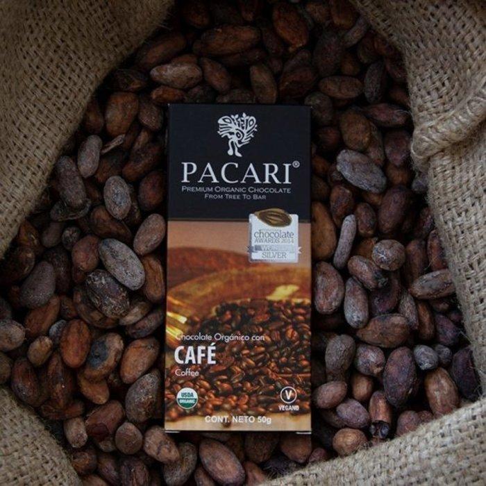 - Bio Schokolade PACARI Kaffee, 60% Kakao