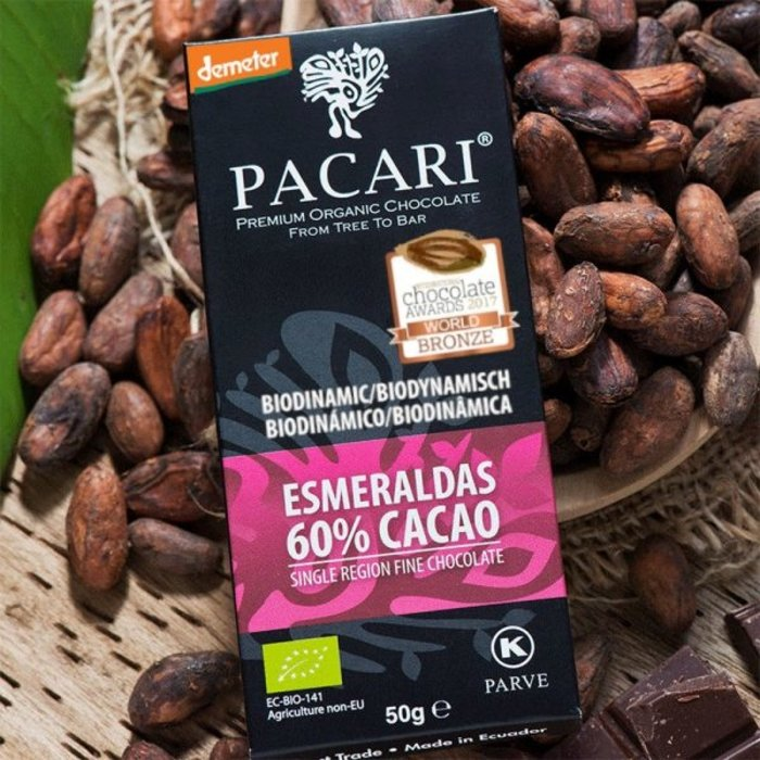 - Demeter Bio Schokolade PACARI Esmeraldas, 60% Kakao, 50g