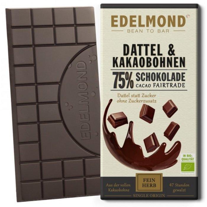- 75% Dattel-Schokolade,  Bio