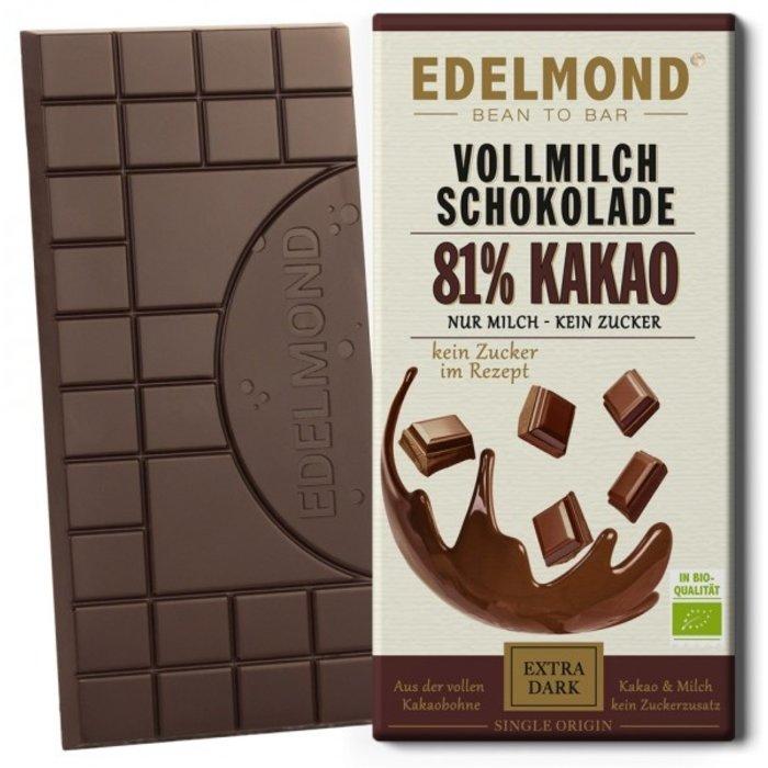 -  81% Milchschokolade, Bio   Kein Zucker!