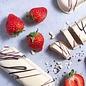 - Marzipanbrot Erdbeere mit weißer Schokolade, 60g