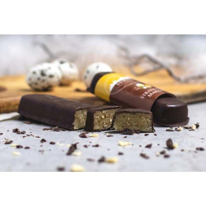 -  Marzipanbrot Eierlikör mit Zartbitterschokolade
