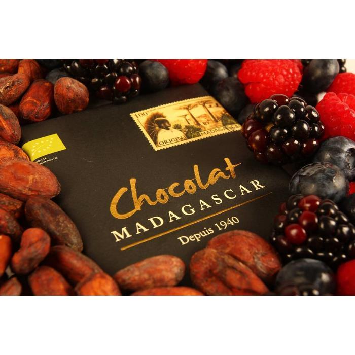 - ORGANIC 100% COCOA dunkle Schokolade   Chocolaterie Robert Malagasy, 85g