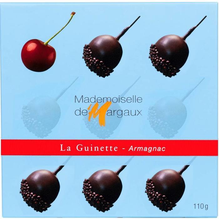 - LA GUINETTE - ARMAGNAC | Schokolierte Armanagnac - Kirschen, 110g