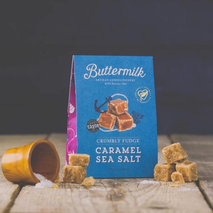 - CRUMBLY FUDGE - CARAMEL SEA SALT | Krümeliges Butterttoffee mit Meersalz, 150g