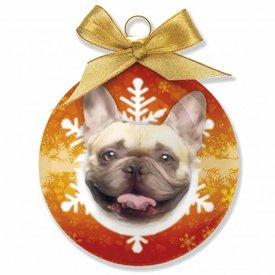 Plenty Gifts Französische Bulldog Weihnachtskugeln Set (3 Stück)