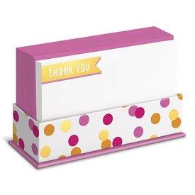Graphique de France Banner Thank You 50 Boxed Grußkarten mit Umschlag