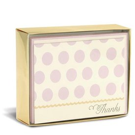 Graphique de France Blush Dots 10 Boxed Notitiekaarten met envelop