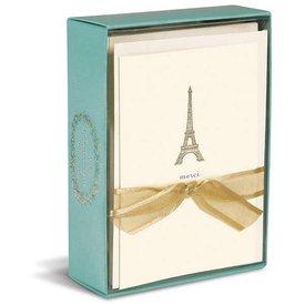 Graphique de France Eiffel Tower 10 Boxed Grußkarten mit Umschlag