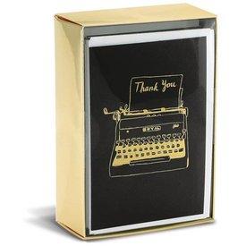 Graphique de France Hipster Typewriter 10 Boxed Notitiekaarten met envelop