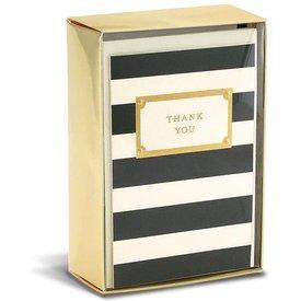 Graphique de France Elegant Thank You 10 Boxed Grußkarten mit Umschlag