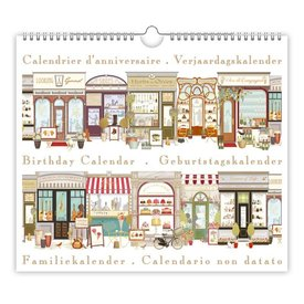 Quire Collections Shop Fronts Verjaardagskalender