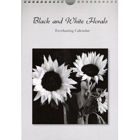 Catch Publishing Black and White Florals Geburtstagskalender