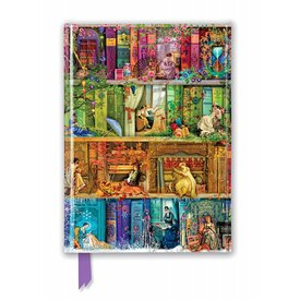 Flame Tree Aimee Stewart: A Stitch in Time Bookshelves Notebook