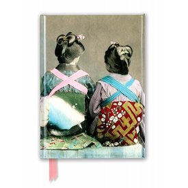 Flame Tree Japanese Dancers Wearing Traditional Kimonos Notebook