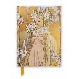 Flame Tree Mucha: The Flowers, Lily Notebook
