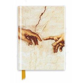 Flame Tree Michelangelo: Creation Hands Notebook