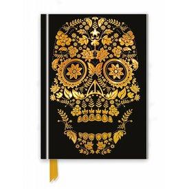 Flame Tree Gold Sugar Skull Notebook
