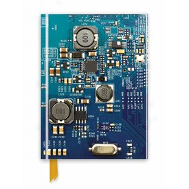 Flame Tree Circuit Board Blue Notebook