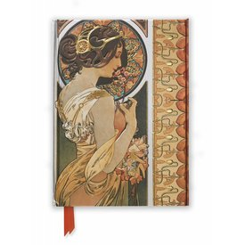 Flame Tree Mucha: Cowslip and Documents Decoratifs Notebook