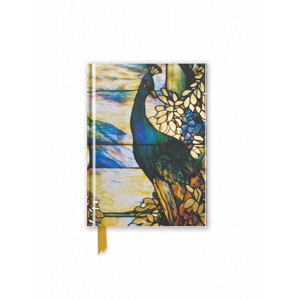 Flame Tree Tiffany: Standing Peacock Notebook