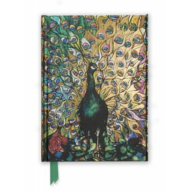 Flame Tree Tiffany: Displaying Peacock Notebook