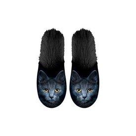 Kalenderwereld Schwarze Katze Hausschuhe 35-38