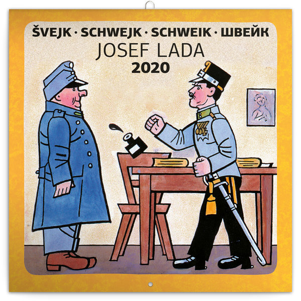 Presco Josef Lada Features Schwejk's Best Moments In Writing Kalender 2020