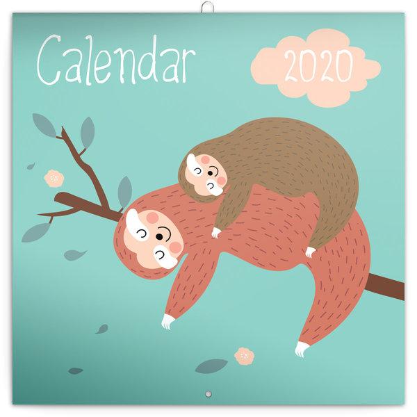 Presco Faultiere - Happy Sloths Kalender 2020