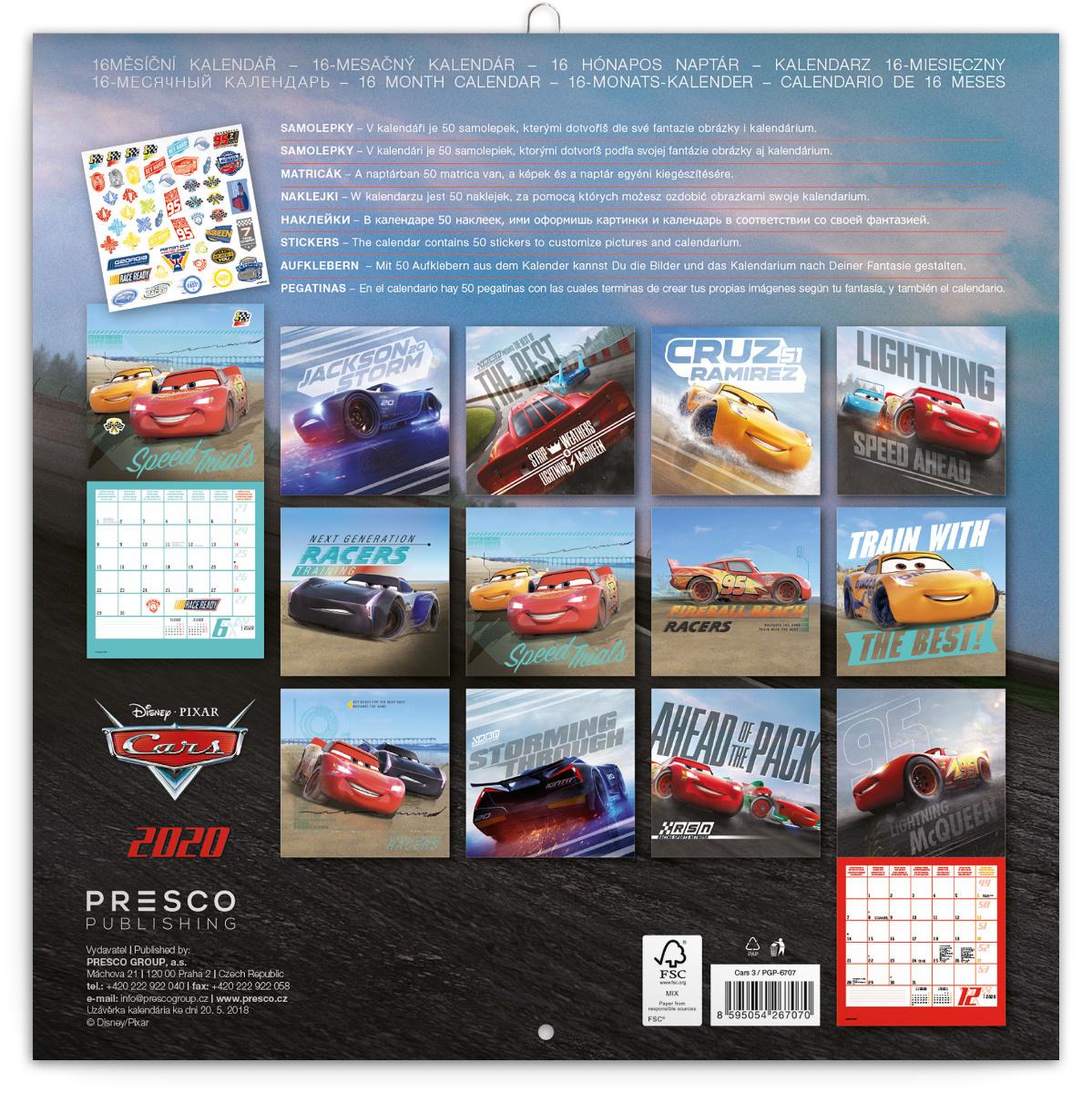 Cars 3 Kalender 2020 Kaufen?   KalenderWereld.nl