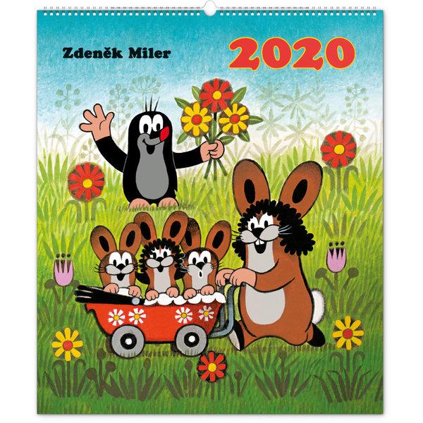 Presco Der Maulwurf - The Little Mole 48x56 Kalender 2020
