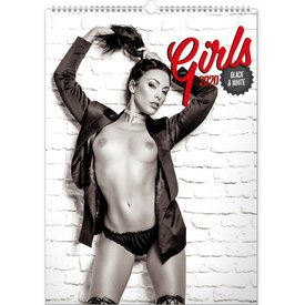 Presco Girls s/w 33x46 Kalender 2020