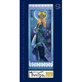 Presco Alphonse Mucha 33x64 Kalender 2020